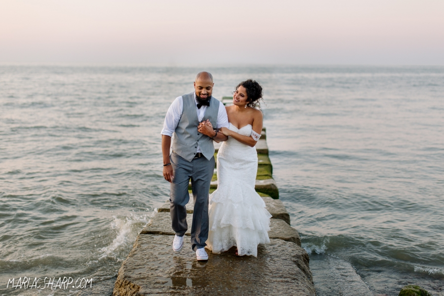 Lake Erie wedding photos
