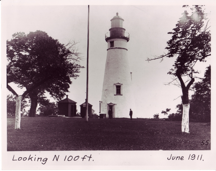 Vintage photos of Lake Erie lighthouses in Ohio