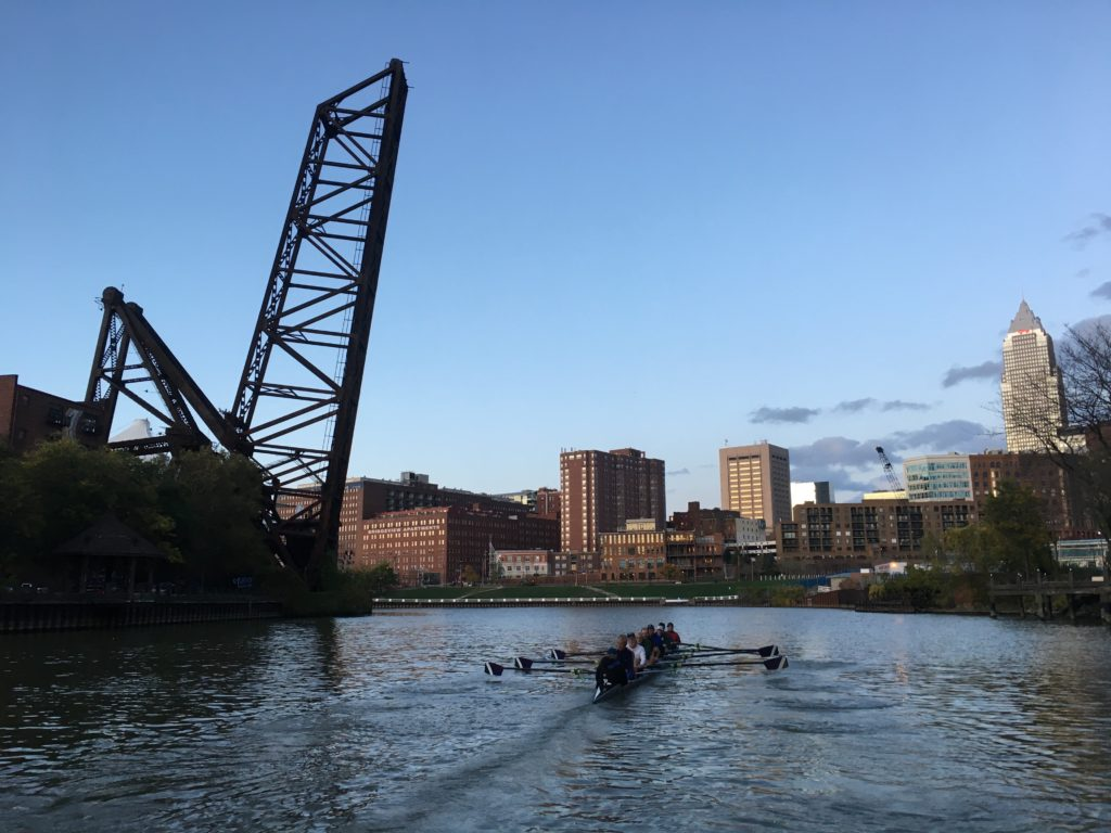 Rowers on the Cuyahoga. (Laura Johnston, RocktheLake)