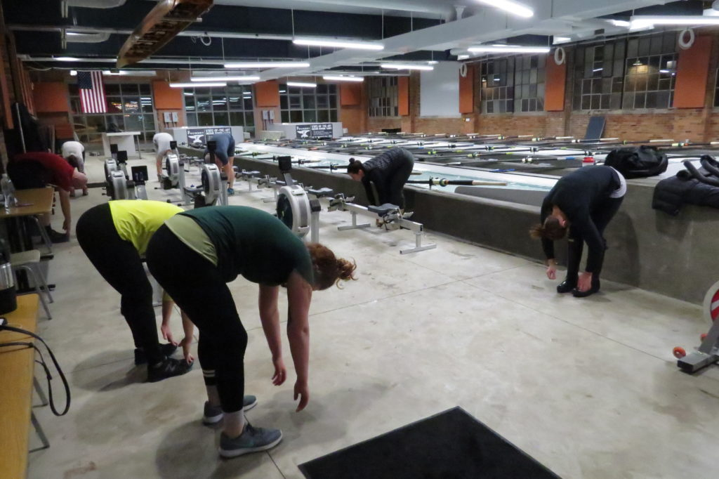 Rowing for Fitness classes at the Foundry. (Laura Johnston, RocktheLake)