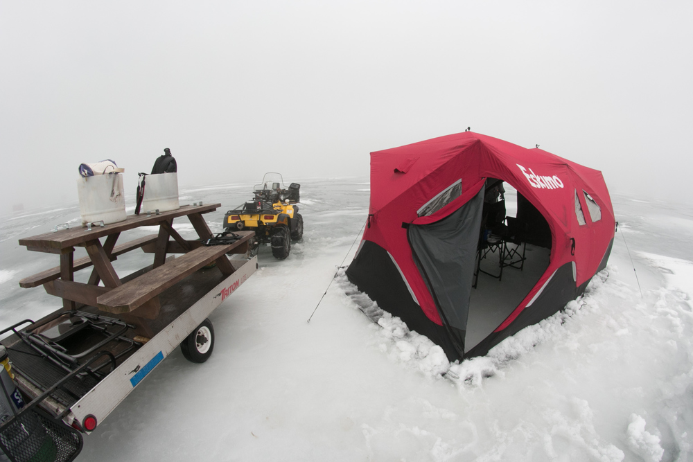 Ice fishing on Lake Erie, especially on a foggy days that I was there, is quite an experience.  Ice Man Guiding Services provides everything you need to ice fish on the lake.  David Petkiewicz, cleveland.com