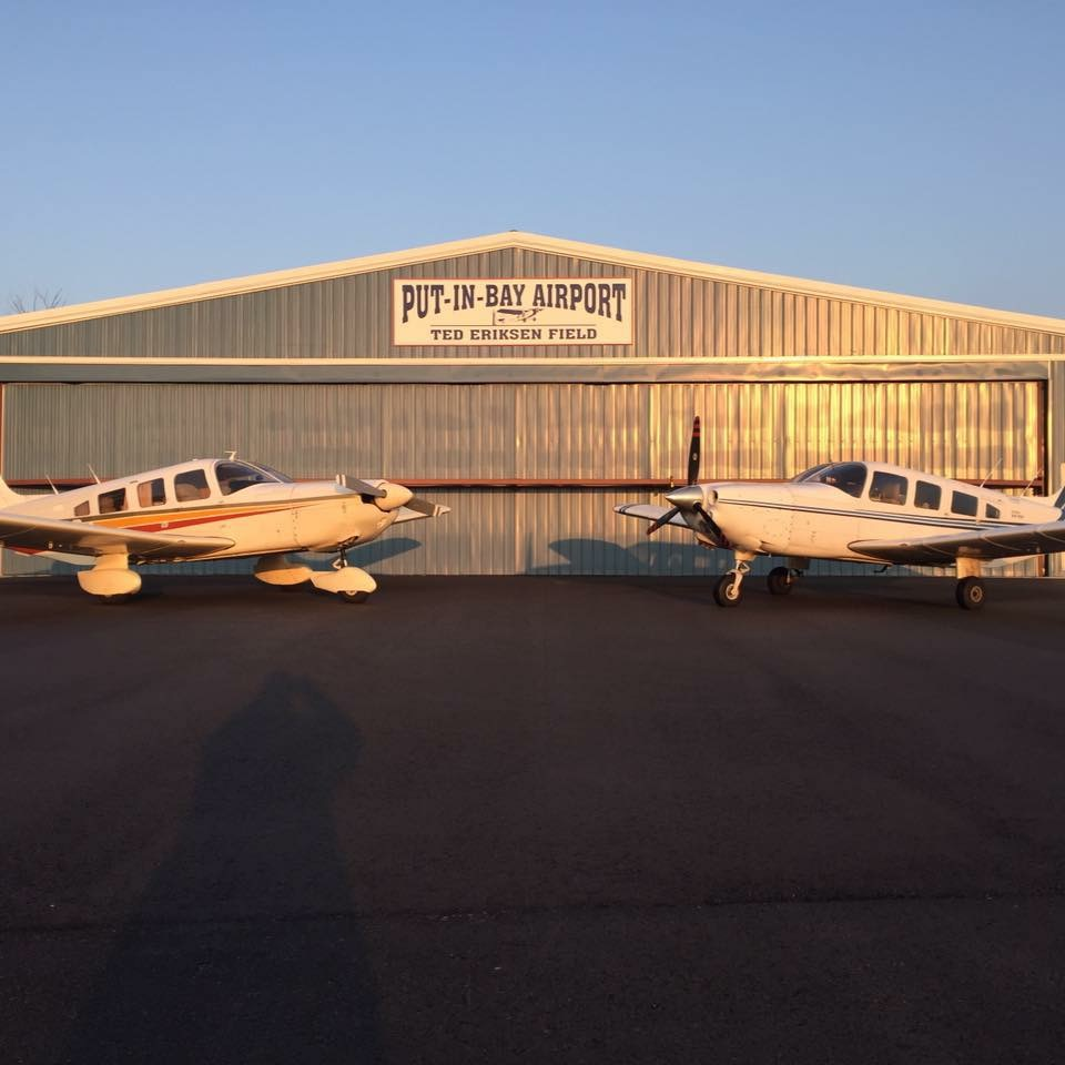 Island Air pilot Dustin Shaffer flies people and goods to Put-in-Bay all winter long. (Dustin Shaffer)
