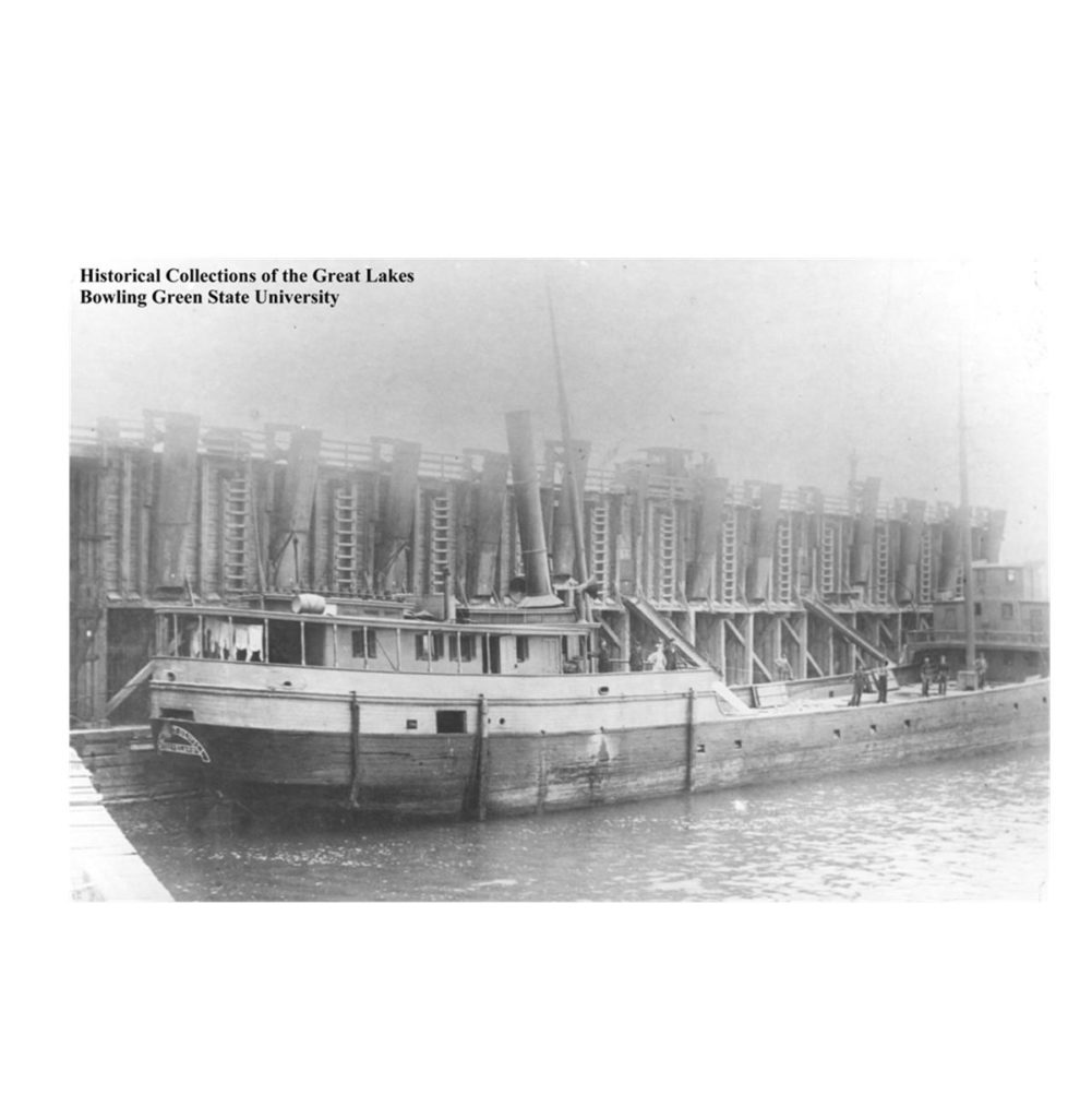 The Margaret Olwill was built in 1887 and wrecked in Lake Erie, off the shore of Lorain, in 1899. Five people died on the trip from Kelleys Island to Cleveland. (Historical Collection of the Great Lakes, Bowling Green State University)