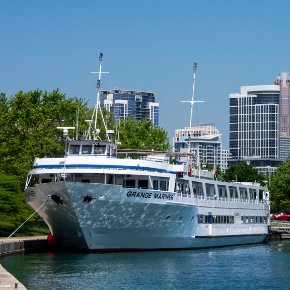 Blount Small Ships brings the Grande Mariner to the Great Lakes. Cruising is growing on the lakes. (Blount Small Ships)