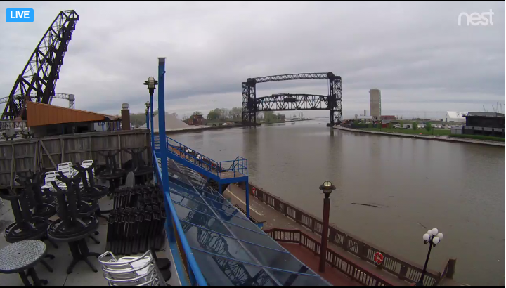 The Music Box Supper Club bridge cam shows the Norfolk Southern railroad bridge 24/7, so you can see when it's up and your boat can get through. (RocktheLake)