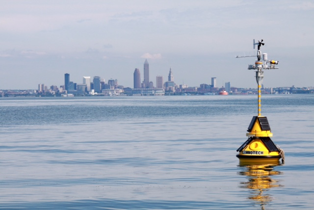 A Great Lakes Observing System buoy maintained by Cleveland Water. (Cleveland Water)