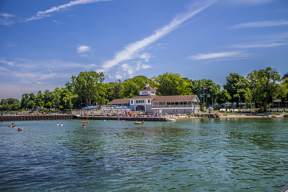 A view of the Lakeside dock from Lake Erie. (Lakeside Chautauqua)