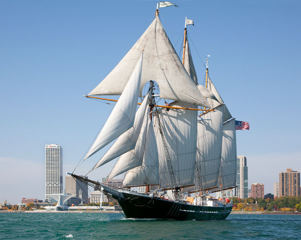Cleveland students will sail in July on S/V Denis Sullivan. (Shannon Beatty, Rotary Club of Cleveland)