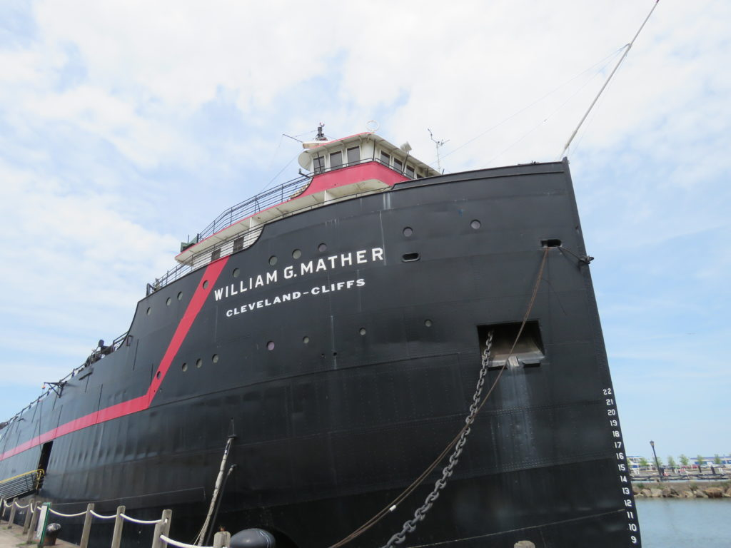 Tour the William G. Mather steamship at Cleveland's Great Lakes Science Museum. (Laura Johnston, RocktheLake)