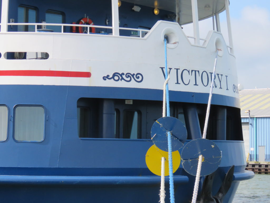 Victory cruise ship arrived in Cleveland Thursday at 9 a.m., for a tour of the city. (Laura Johnston, RocktheLake)