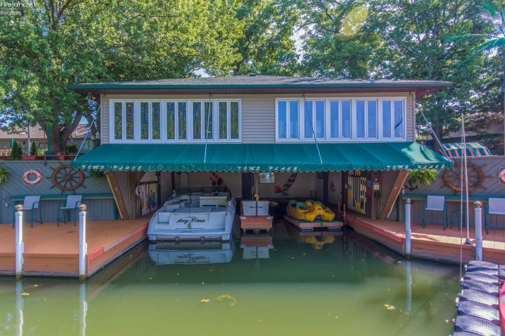Live on the water with this 1,700 square foot home with docks. (Belinda Hoffman, Russell Real Estate Services)