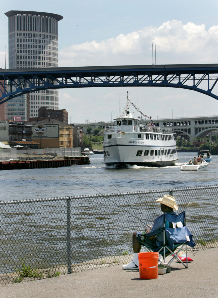 You can now eat the fish from the Cuyahoga River. (Peggy Turbett, The Plain Dealer)