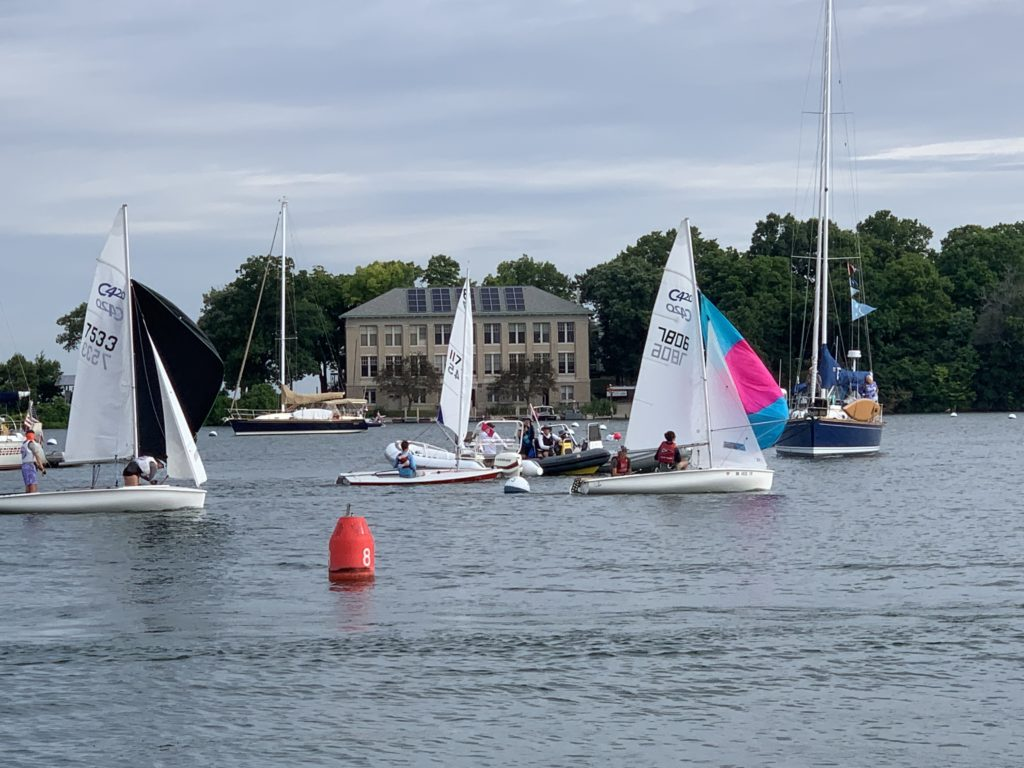Kids set sail during Inter-Lake Yachting Association's Junior Championships. (Molly Mack)