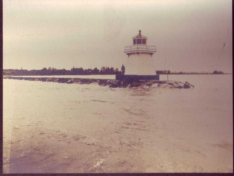 Vintage photos of Lake Erie lighthouses in Ohio